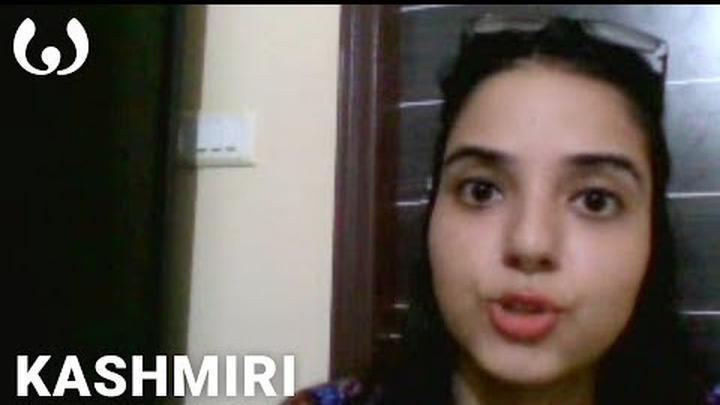 WIKITONGUES: Aakriti speaking Kashmiri