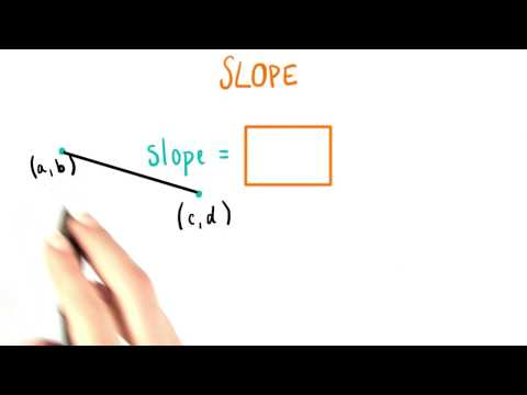 Generalizing Finding The Slope - College Algebra thumbnail