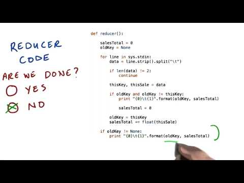 Reducer Code - Intro to Hadoop and MapReduce thumbnail