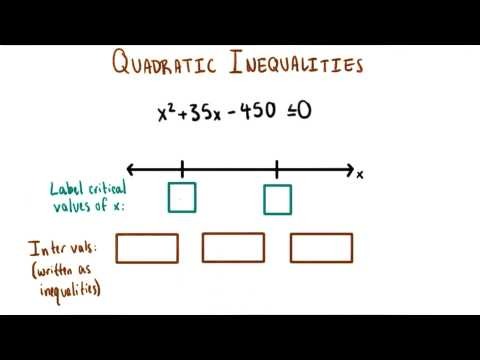 Critical Values and Intervals - College Algebra thumbnail
