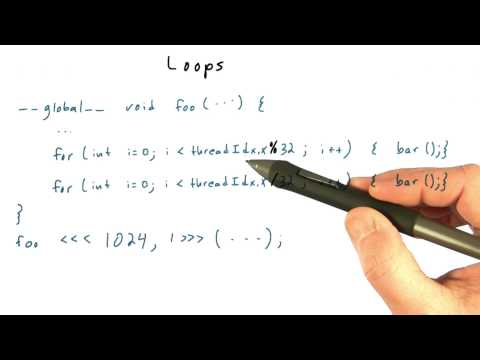 Loops and Thread Divergence - Intro to Parallel Programming thumbnail