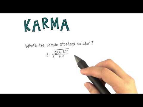 SD of Karma Points per Post - Intro to Descriptive Statistics thumbnail