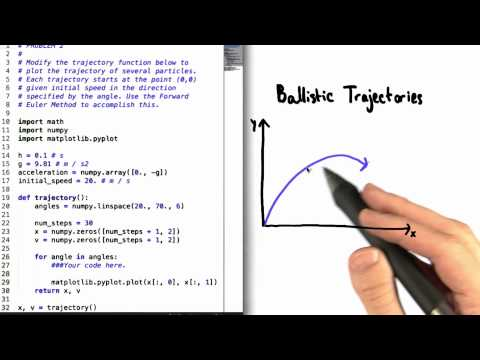 Ballistic Trajectories - Differential Equations in Action thumbnail