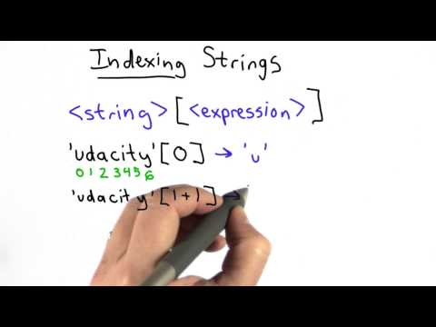 Indexing Strings - Intro to Computer Science thumbnail