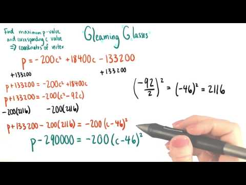Wiper Price for Maximizing Profit - College Algebra thumbnail