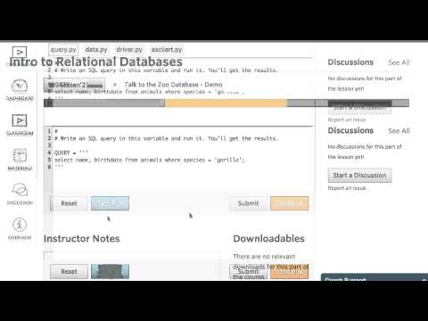 Talk to the Zoo Database - Intro to Relational Databases thumbnail
