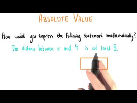 Expressing Absolute Value - College Algebra thumbnail