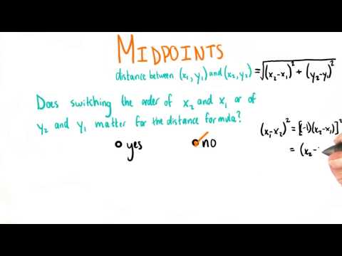 Formula For Midpoints - College Algebra thumbnail