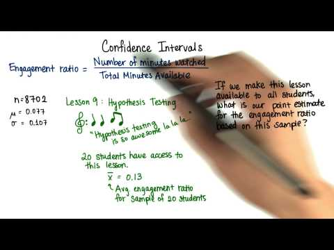 Point Estimate Engagement Ratio - Intro to Inferential Statistics thumbnail