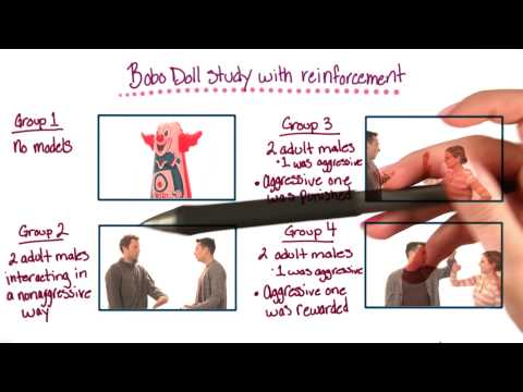 Bobo doll study with reinforcement - Intro to Psychology thumbnail