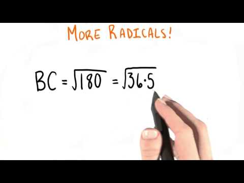 More Radicals - College Algebra thumbnail