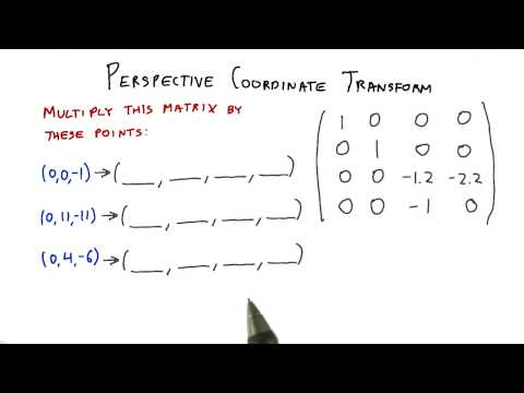 Perspective Coordinate Transform - Interactive 3D Graphics thumbnail
