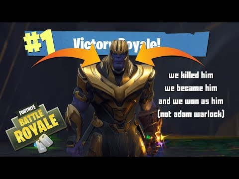 we play infinity gauntlet become thanos fortnite thumbnail - thanos fortnite thumbnail