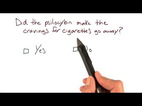 Cigarette cravings in psilocybin study - Intro to Psychology thumbnail
