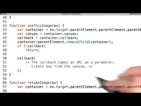 Camera callback - Mobile Web Development thumbnail