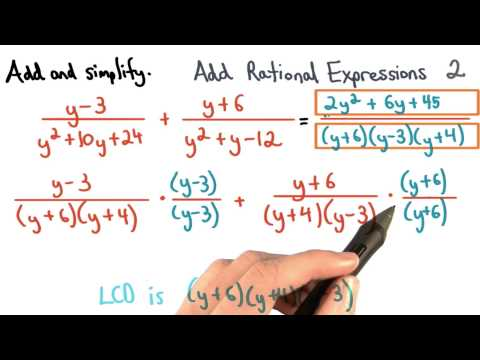 Add Rational Expressions Practice 2 - Visualizing Algebra thumbnail