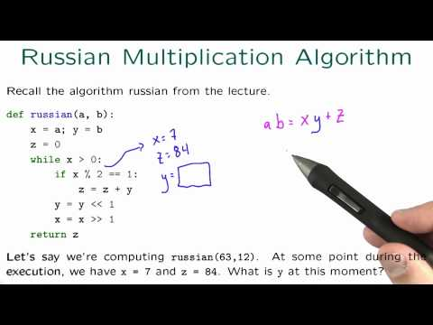 Russian Multiplication Algorithm Solution - Intro to Algorithms thumbnail