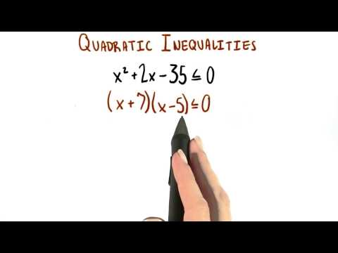 Quadratic Inequality 2 - College Algebra thumbnail