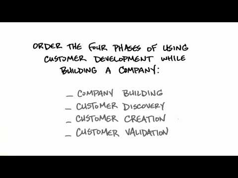 Four Phases Of Customer Development - How to Build a Startup thumbnail