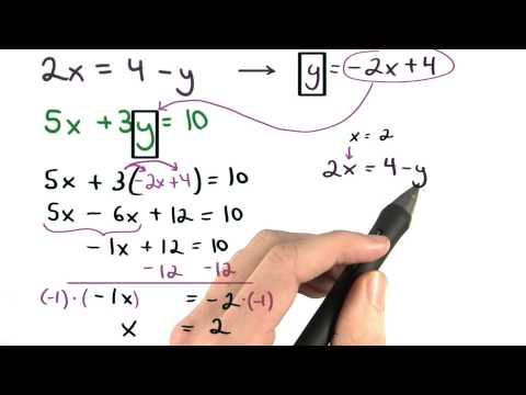 Substitution Method Math6 Lesson 4.2 thumbnail