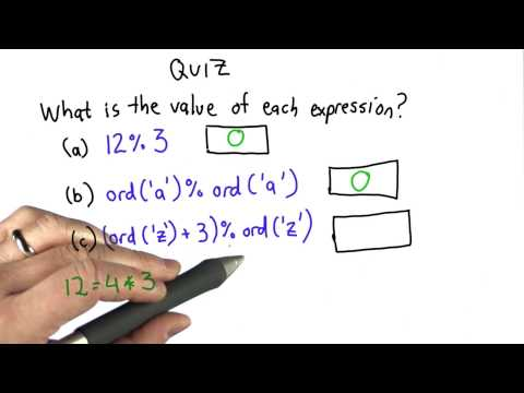 Modulus Quiz Solution - Intro to Computer Science thumbnail