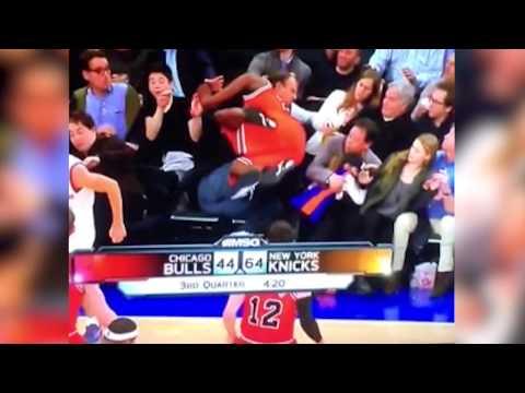 Dad SAVES daughter at Knicks - Bulls game! (12/11/13) thumbnail