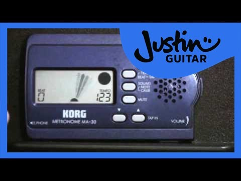 Introducing the metronome (Guitar Lesson BC-125) Guitar for beginners Stage 2 thumbnail