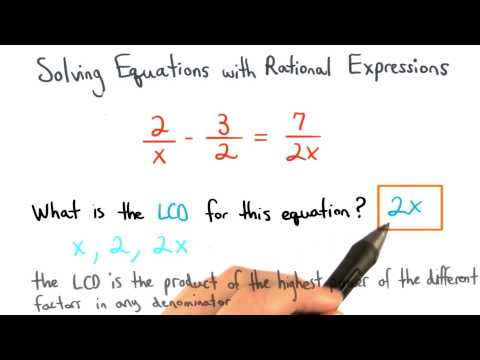 Finding the LCD to Solve Equations - Visualizing Algebra thumbnail