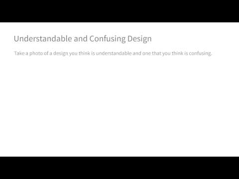 Understandable and Confusing Design - Intro to the Design of Everyday Things thumbnail