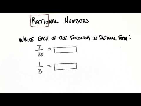 Fraction to Decimal - College Algebra thumbnail