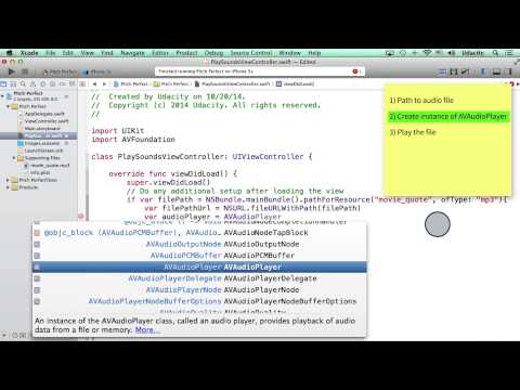 Fixing Bugs While Creating AVAudioPlayer - Intro to iOS App Development with Swift thumbnail