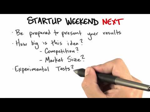 Startup Weekend Next - How to Build a Startup thumbnail