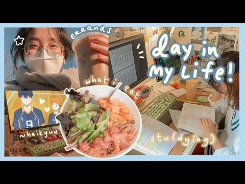 a day in my life��studying 4 midterms, what i eat, + working on art projects� thumbnail