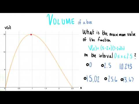 Maximum Volume - College Algebra thumbnail