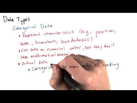 Different Data Types 2 - Categorical Data - Intro to Data Science thumbnail