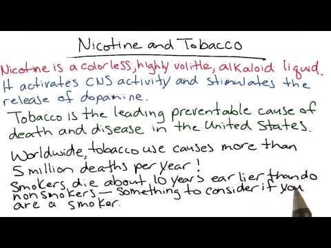 Nicotine and tobacco thumbnail