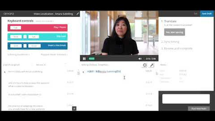Amara Editor: Translate a video