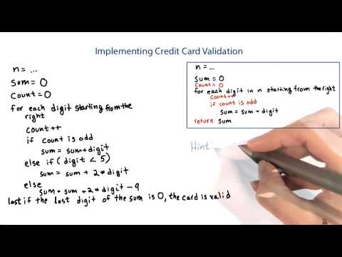 Credit Card Checksum - Intro to Java Programming thumbnail