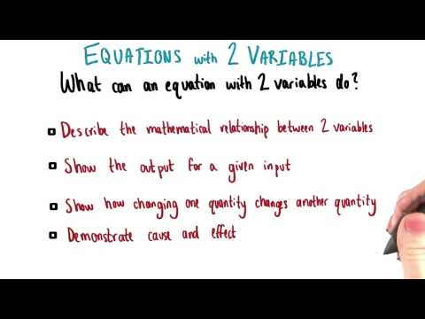 Equations With Two Variables - College Algebra thumbnail