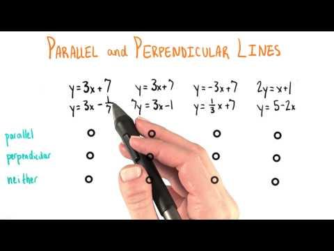 Parallel or Penpendicular - College Algebra thumbnail
