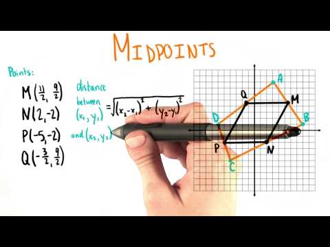 Distance Between Midpoints - College Algebra thumbnail