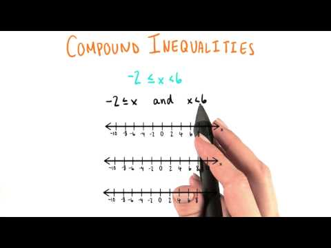 Compound Inequalities 2 - College Algebra thumbnail