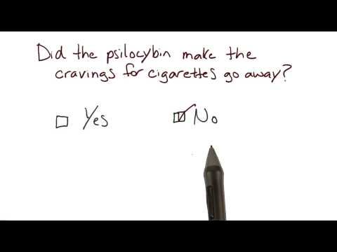Cigarette cravings in psilocybin study thumbnail