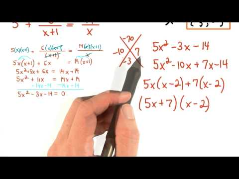 Solving Equations with Rational Expressions Practice 6 thumbnail