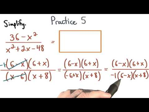 Simplify Rational Expressions Practice 5 - Visualizing Algebra thumbnail