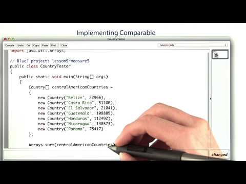 Implementing Comparable - Intro to Java Programming thumbnail