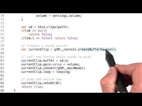 Playing Sounds - HTML5 Game Development thumbnail