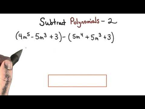 Subtract Polynomials Practice 2 - Visualizing Algebra thumbnail
