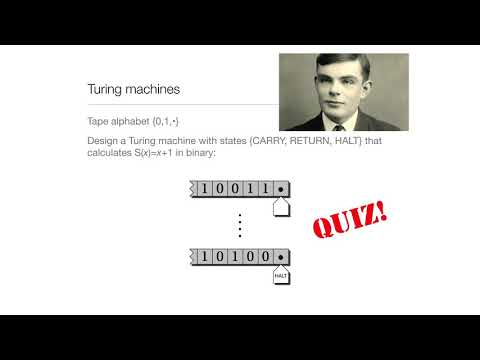 Computation in Complex Systems: Computation Everywhere : Turing Machines Quiz thumbnail