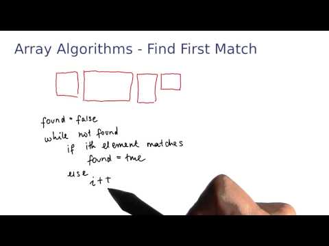 Array Algorithms Find the First Match - Intro to Java Programming thumbnail